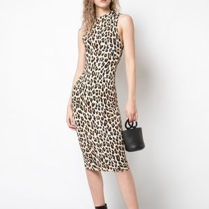 Alice and Olivia Leopard Print Dress